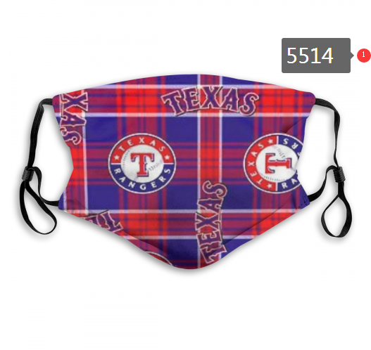 2020 MLB Texas Rangers Dust mask with filter