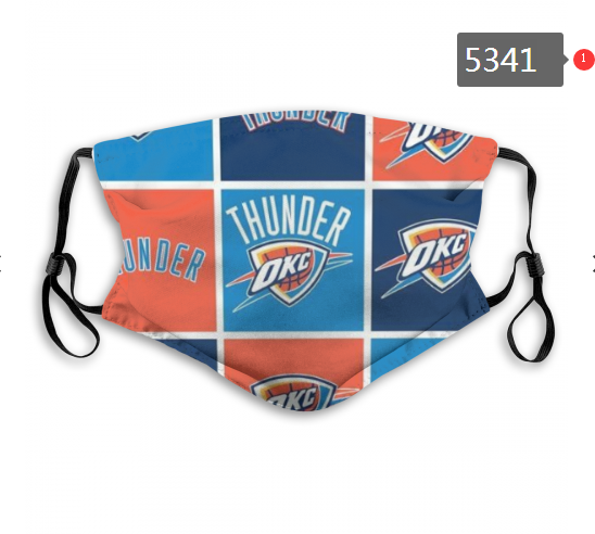 2020 NBA Oklahoma City Thunder 2 Dust mask with filter