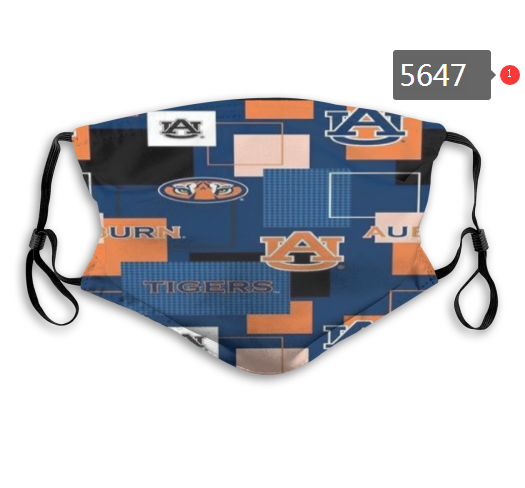 2020 NCAA Auburn Tigers 2 Dust mask with filter