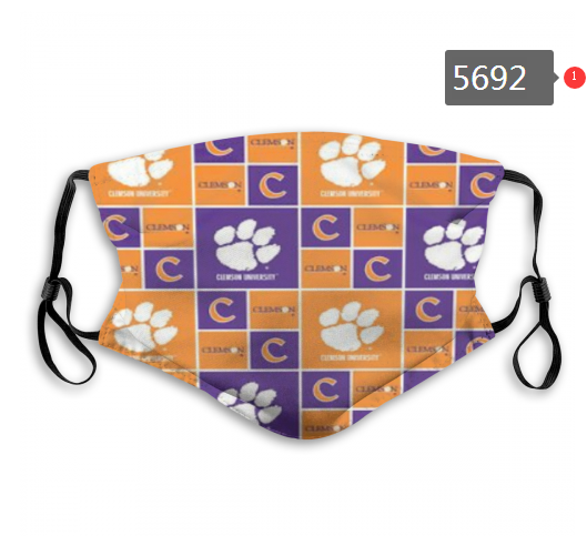 2020 NCAA Clemson Tigers 10 Dust mask with filter