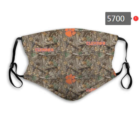 2020 NCAA Clemson Tigers 2 Dust mask with filter
