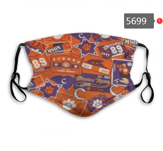 2020 NCAA Clemson Tigers 3 Dust mask with filter