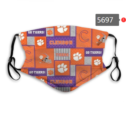 2020 NCAA Clemson Tigers 5 Dust mask with filter