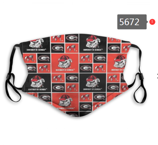 2020 NCAA Georgia Bulldogs 1 Dust mask with filter