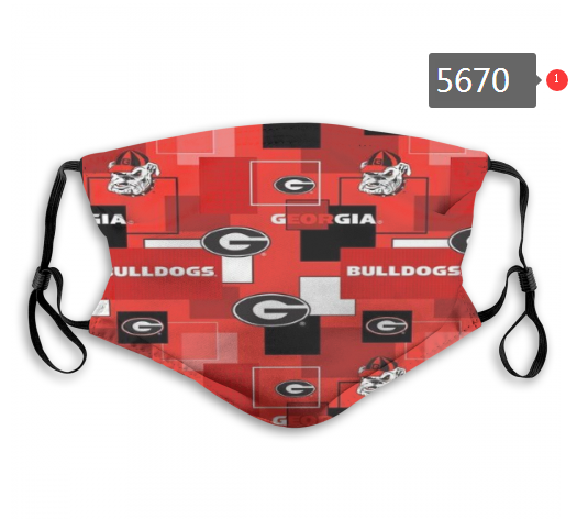 2020 NCAA Georgia Bulldogs 3 Dust mask with filter