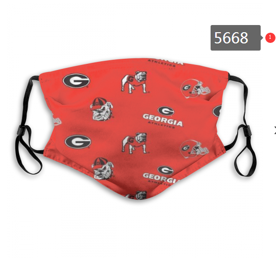 2020 NCAA Georgia Bulldogs 5 Dust mask with filter