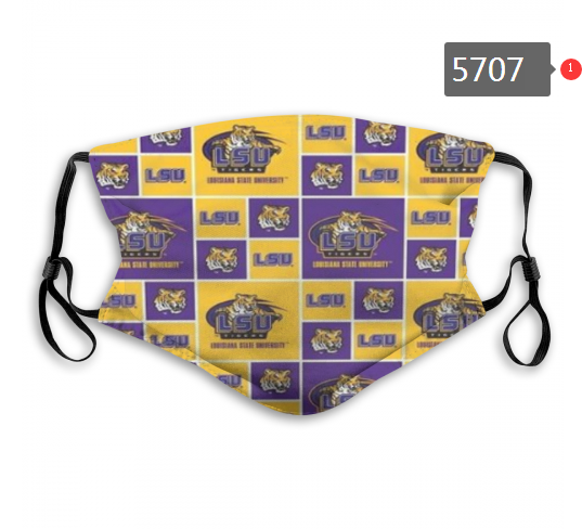 2020 NCAA LSU Tigers 6 Dust mask with filter