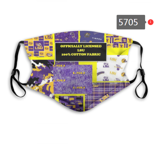 2020 NCAA LSU Tigers 8 Dust mask with filter