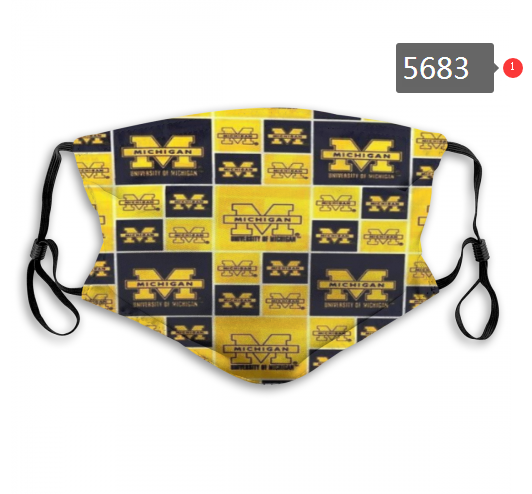 2020 NCAA Michigan Wolverines 8 Dust mask with filter