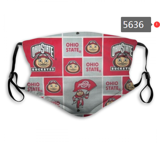 2020 NCAA Ohio State Buckeyes 4 Dust mask with filter