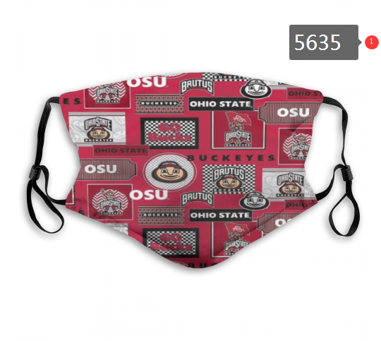 2020 NCAA Ohio State Buckeyes 5 Dust mask with filter