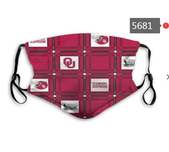 2020 NCAA Oklahoma Sooners 1 Dust mask with filter
