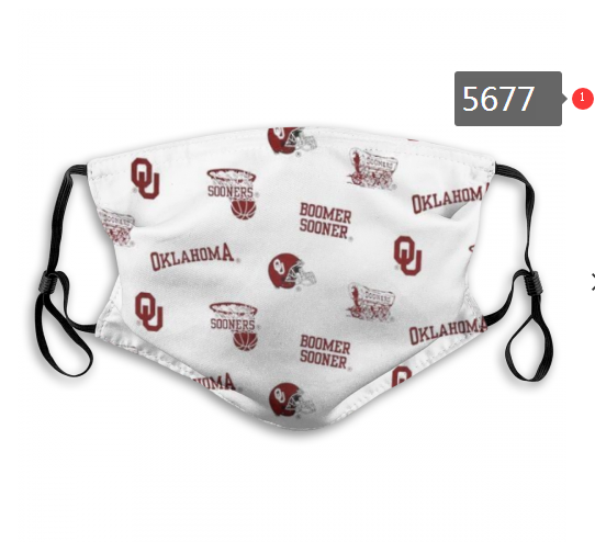 2020 NCAA Oklahoma Sooners 5 Dust mask with filter
