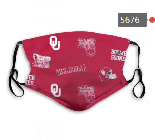 2020 NCAA Oklahoma Sooners 6 Dust mask with filter