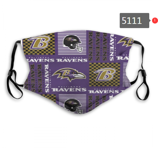 2020 NFL Baltimore Ravens 5 Dust mask with filter