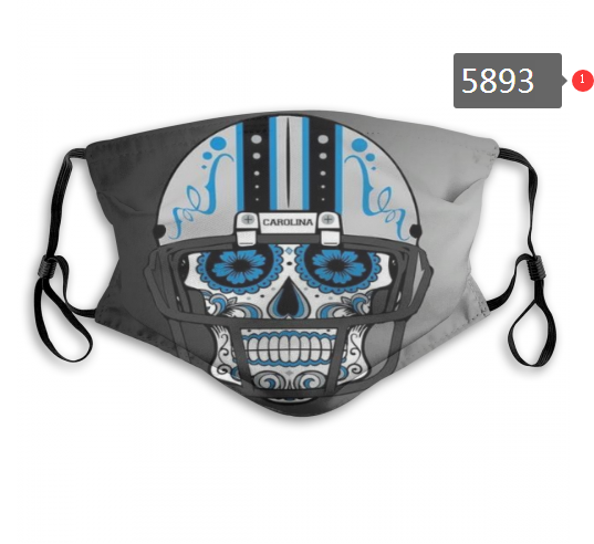 2020 NFL Carolina Panthers 2 Dust mask with filter