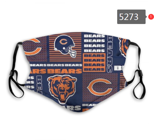 2020 NFL Chicago Bears 3 Dust mask with filter