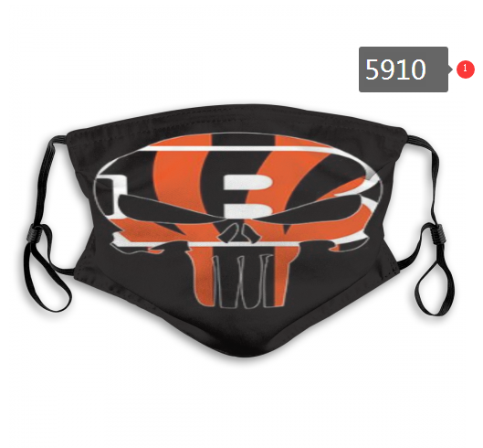 2020 NFL Cincinnati Bengals 1 Dust mask with filter