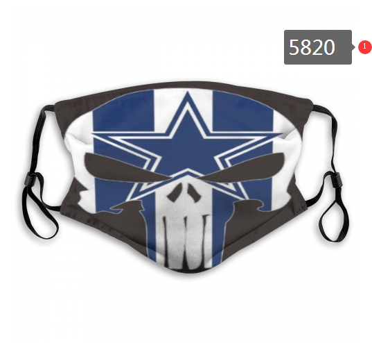 2020 NFL Dallas cowboys 4 Dust mask with filter