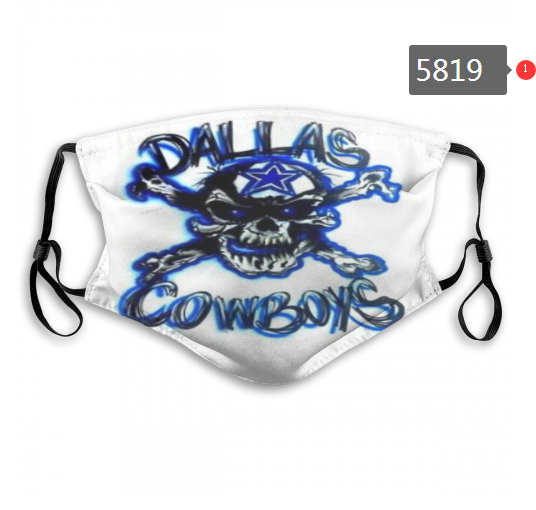 2020 NFL Dallas cowboys 5 Dust mask with filter