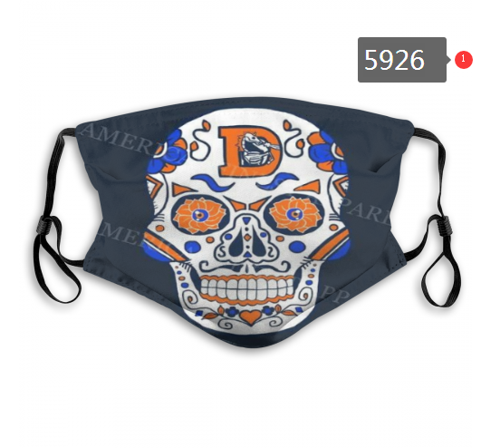 2020 NFL Denver Broncos 2 Dust mask with filter