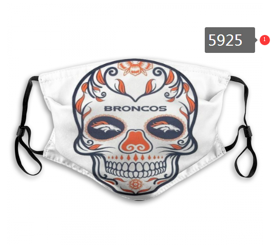 2020 NFL Denver Broncos 3 Dust mask with filter