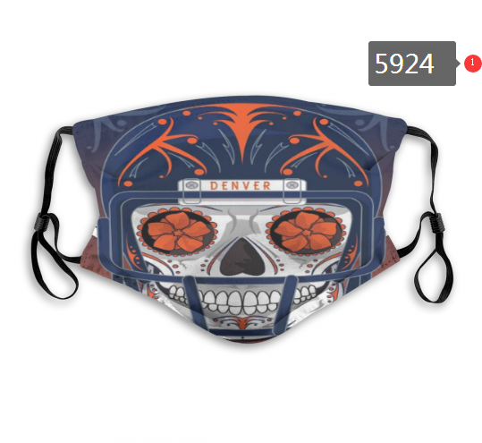 2020 NFL Denver Broncos 4 Dust mask with filter