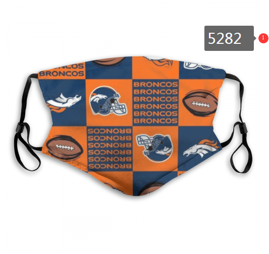 2020 NFL Denver Broncos 9 Dust mask with filter