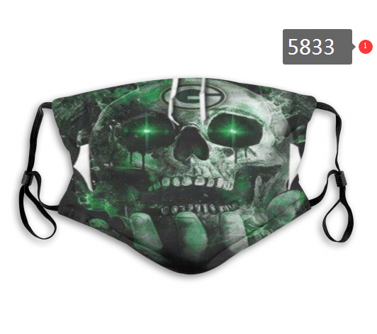 2020 NFL Green Bay Packers 2 Dust mask with filter