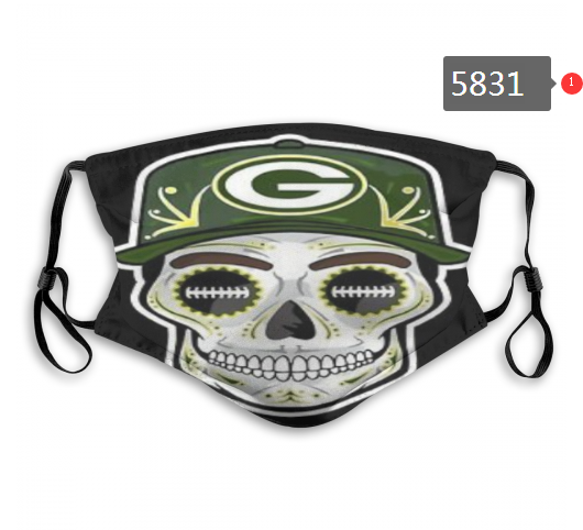 2020 NFL Green Bay Packers 4 Dust mask with filter