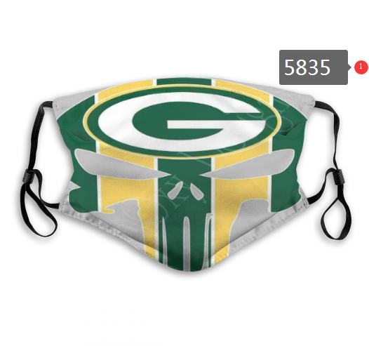 2020 NFL Green Bay Packers Dust mask with filter