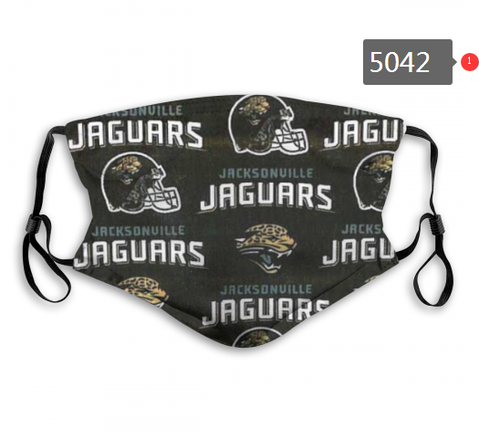 2020 NFL Jacksonville Jaguars 4 Dust mask with filter