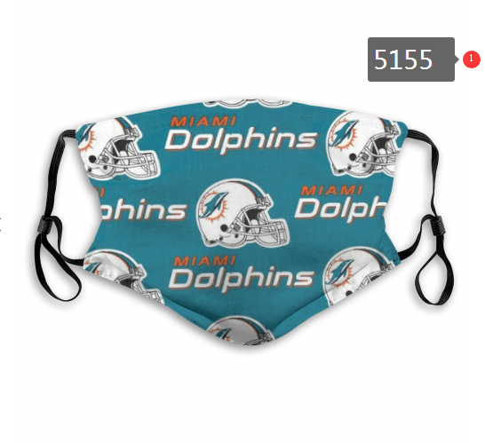 2020 NFL Miami Dolphins 3 Dust mask with filter