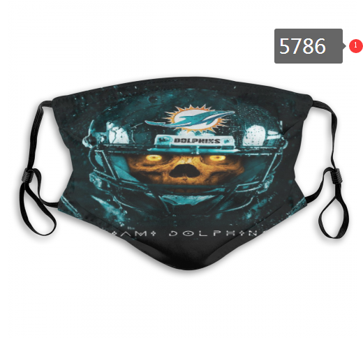 2020 NFL Miami Dolphins 4 Dust mask with filter