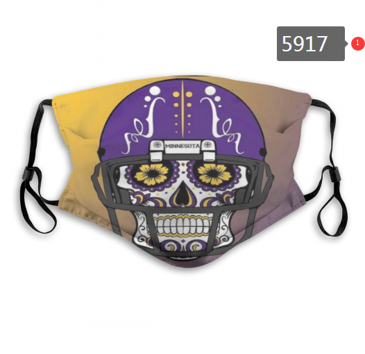 2020 NFL Minnesota Vikings 4 Dust mask with filter