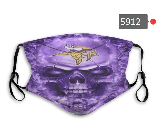 2020 NFL Minnesota Vikings 9 Dust mask with filter
