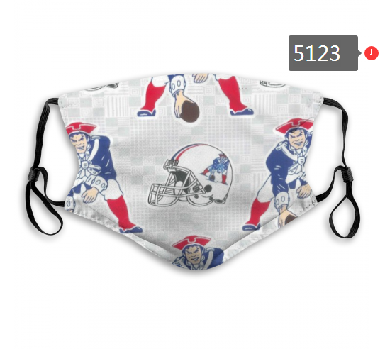 2020 NFL New England Patriots 10 Dust mask with filter