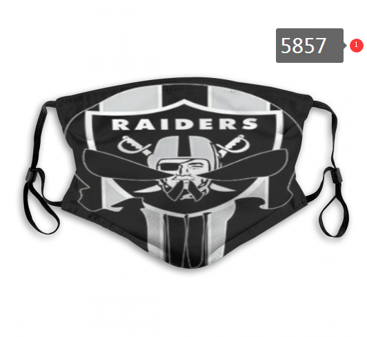 2020 NFL Oakland Raiders 15 Dust mask with filter