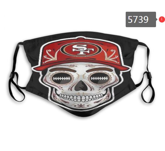 2020 NFL San Francisco 49ers 13 Dust mask with filter