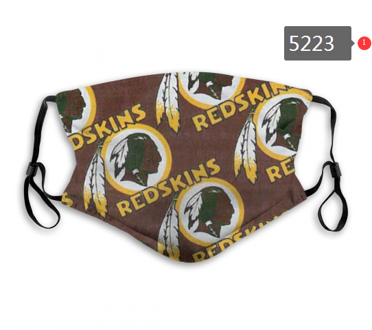 2020 NFL Washington Red Skins 4 Dust mask with filter