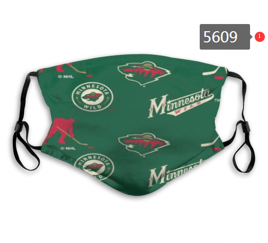 2020 NHL Minnesota Wild 2 Dust mask with filter
