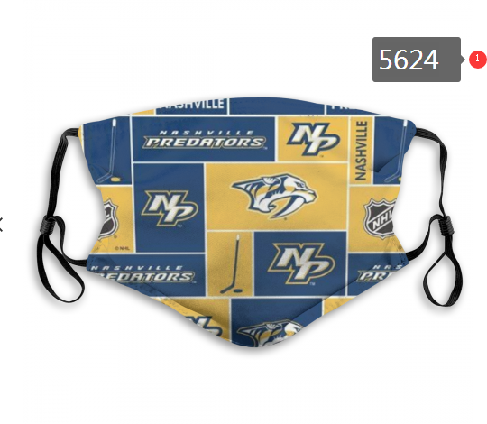 2020 NHL Nashville Predators 1 Dust mask with filter