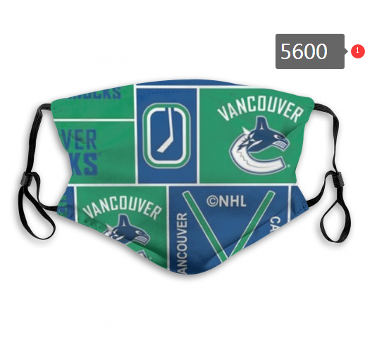 2020 NHL Vancouver Canucks 1 Dust mask with filter