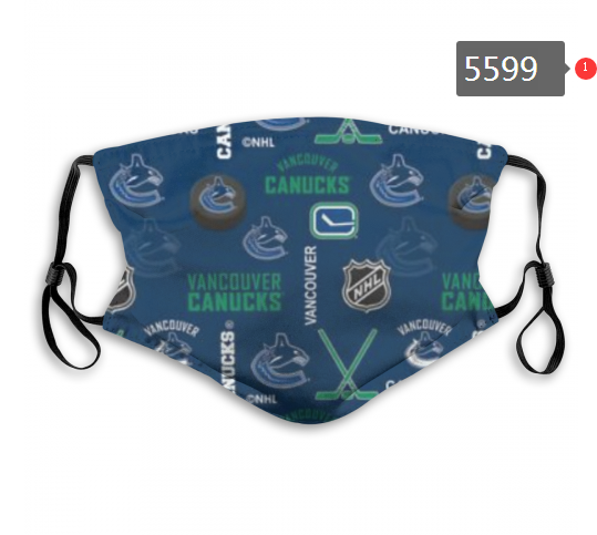 2020 NHL Vancouver Canucks 2 Dust mask with filter
