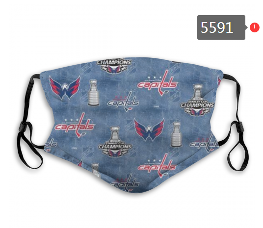 2020 NHL Washington Capitals 1 Dust mask with filter