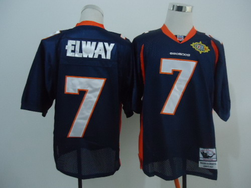 Denver Broncos 7 John Elway Blue Super Bowl Throwback Jersey