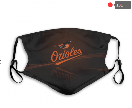 MLB Baltimore Orioles 4 Dust mask with filter