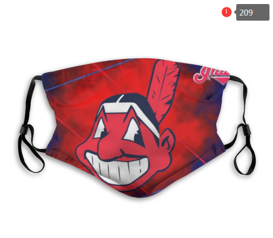MLB Cleveland Indians 2 Dust mask with filter