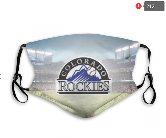 MLB Colorado Rockies 1 Dust mask with filter