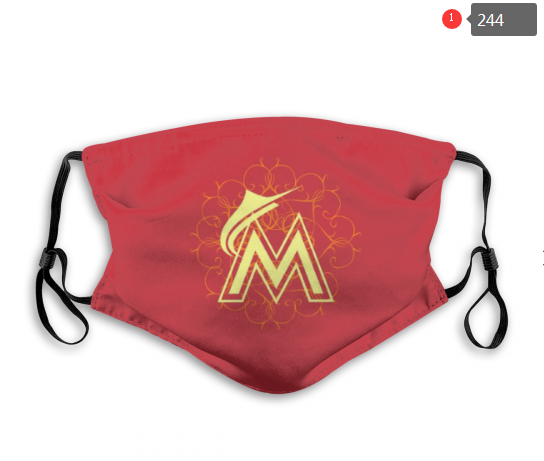 MLB Miami Marlins 1 Dust mask with filter